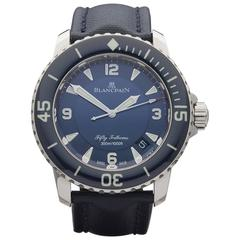 Blancpain White Gold Fifty Fathoms Automatic Wristwatch