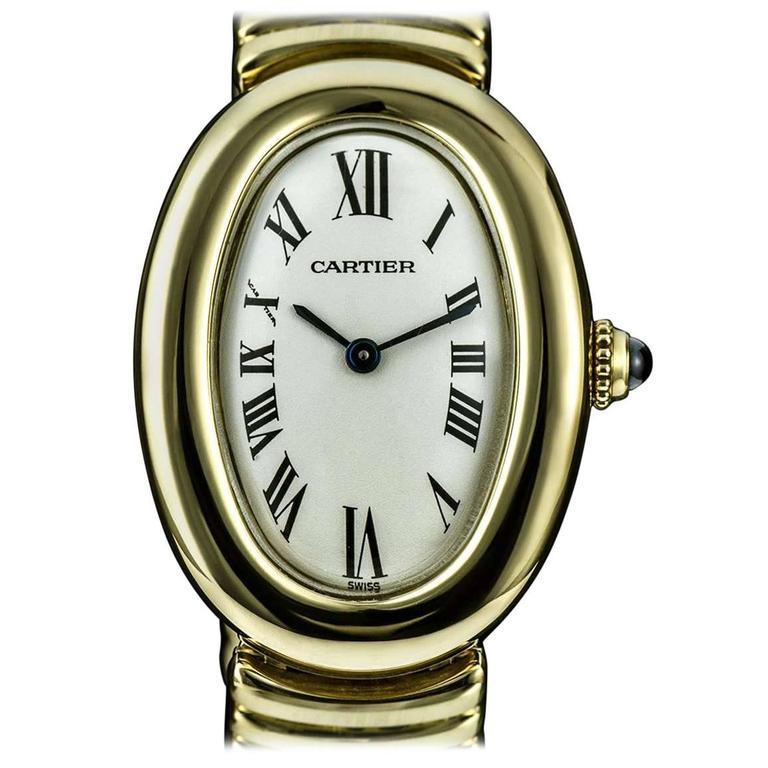 Cartier LadiesYellow Gold Baignoire Quartz Wristwatch 1