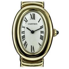 Cartier LadiesYellow Gold Baignoire Quartz Wristwatch