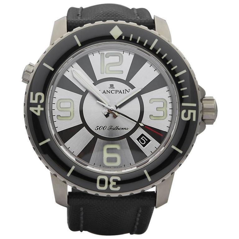 Blancpain Titanium Fifty Fathoms 500 Fathoms Automatic Wristwatch