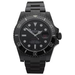 Rolex Stainless Steel Submariner Hercules Custom DLC Coated Automatic Watch