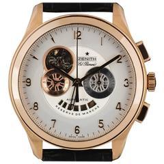 Zenith Rose Gold Grande Class Open XXT El Primero Automatic Wristwatch