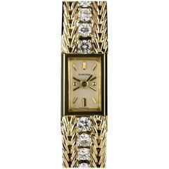 Blancpain Ladies  Yellow Gold Baton Dial Diamond Set Manual Wind Wristwatch