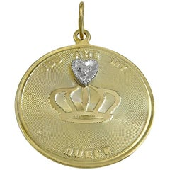 Gold You Are My Queen Charm