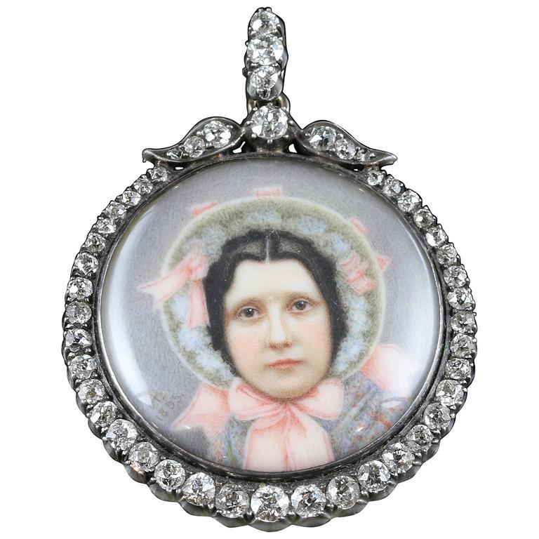 Suffragette Diamond Gold Silver Pendant Sybil Thomas Viscountess Rhondda Pendant For Sale