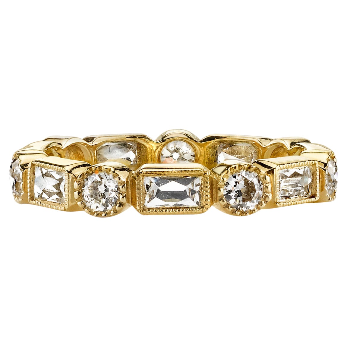 Approx. 2.00 Carat Mixed Cut Diamonds Set in a Handcrafted Eternity Band.