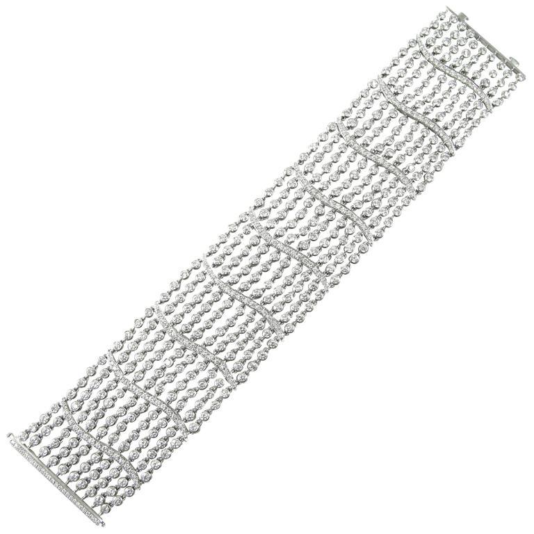 Multi-Strand Diamond Bracelet