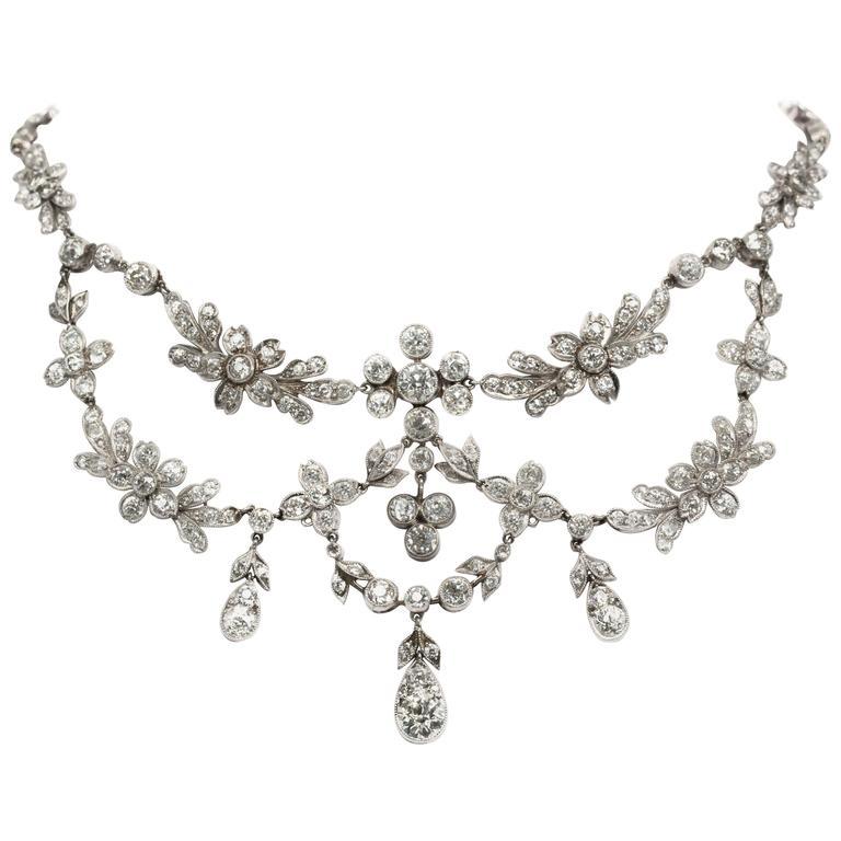 30.00 Carat Platinum Deco Necklace 1