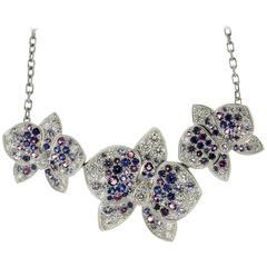 CARTIER Caresse D'Orchidees Diamond Sapphire Amethyst Necklace