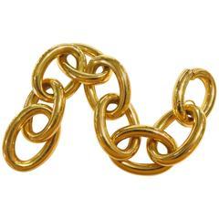 Colossal Oval Link Spectacular Gold Bracelet