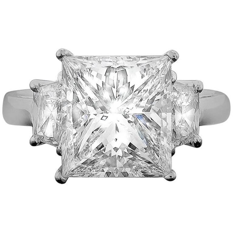 4.03 carat Princess Diamond Ring