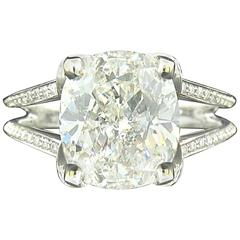 5.01ct Cushion Diamond Ring
