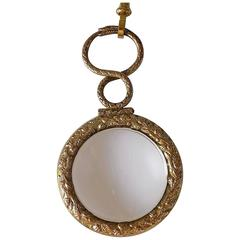 Georgian Ouroboros Snake Quizzing glass on Gold Muff chain