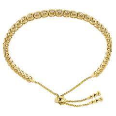 Diamond Yellow Gold Bolo Bracelet