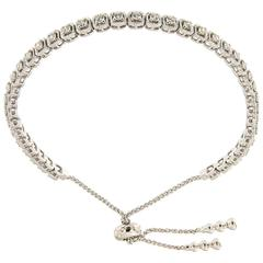 Diamond White Gold Bolo Bracelet