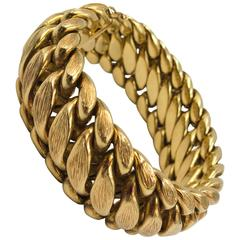 Spritzer & Fuhrmann Virgin Islands Bark Textured Gold Link Bracelet