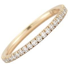 Micro Pave Eternity Band in One Point Diamonds 0.43 Carat Diamond Weight