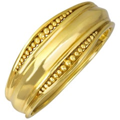 Helen Woodhull Gold Bead Bangle Bracelet