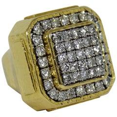 Stunning David Webb  Diamond Gold Ring