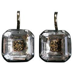 Antique Stuart Crystal Earrings