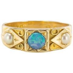 1910s Opal and Natural Pearl Ring