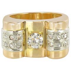 1940s Diamond Retro Ring