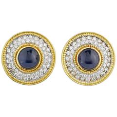 Theo Fennell Diamond and Sapphire Earrings