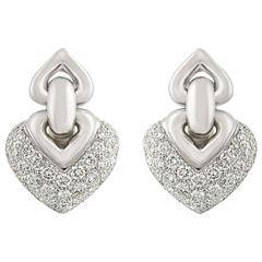 Bulgari Doppio Cuore Diamond Earrings 2.00 Carat