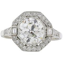 2.18 J/VS2 Carat Diamond Engagement Ring