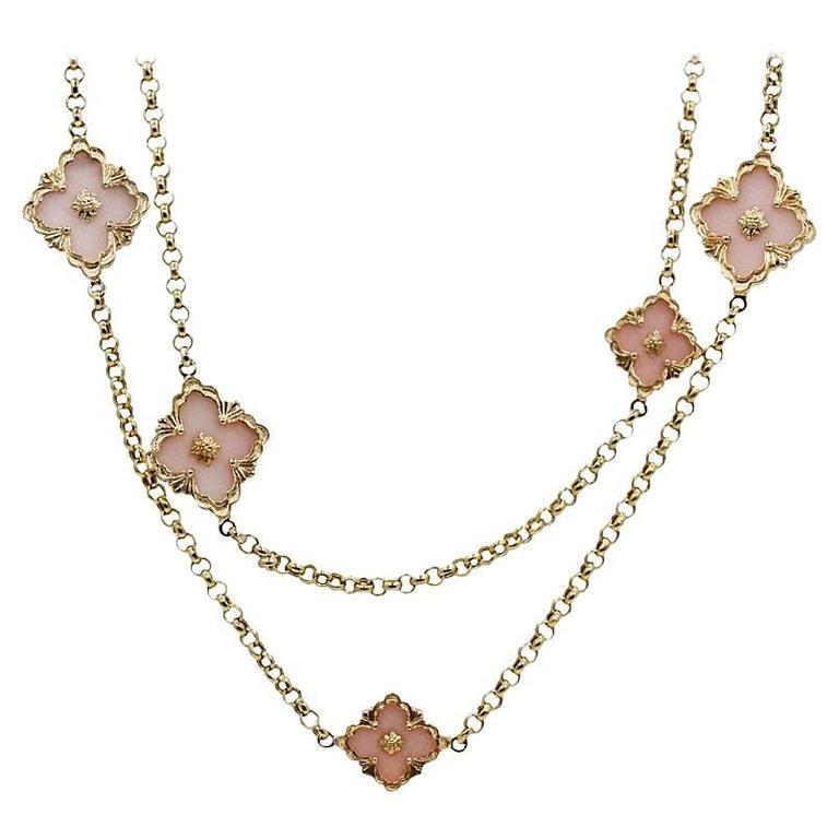 18K Yellow Gold Buccellati Opal Opera Necklace