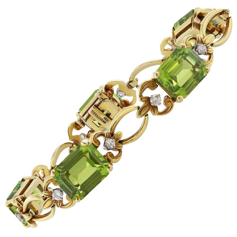 j and co jewelry and co peridot gold bracelet at 1stdibs 1036