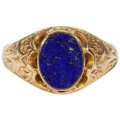 Victorian Lapis Lazuli Gold Ring