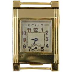 Rolls Yellow Gold First Automatic Wristwatch 1930s