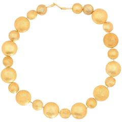 Gold Smartie Bead Necklace