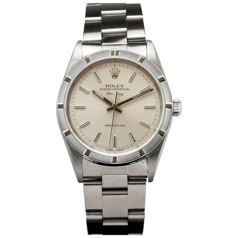 Rolex Stainless Steel Air-King Precision automatic Wristwatch Ref 14010M