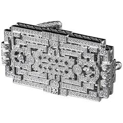 Limited Edition Diamond White Gold Belt Buckle