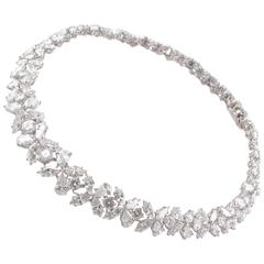 Magnificent 50.00 Carat Platinum Diamond Necklace