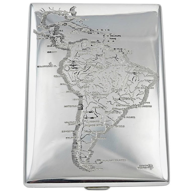 Tiffany & Co. Sterling Silver South America Case