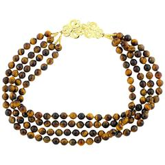 Tiger Eye and More Tiger Eye Necklace