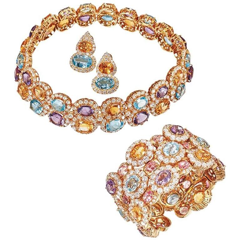 Impressive Multicolor Stones and Diamonds Set
