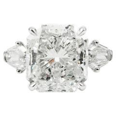 GIA Certified 8.44 Carat Cushion Cut Diamond Platinum Ring