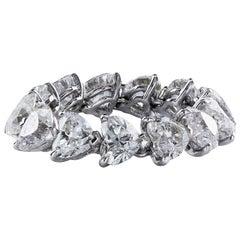5.36 Carat Heart Shape Diamond Flexible Eternity Wedding Band