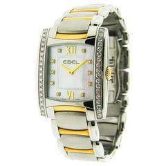 Ebel Lady's Yellow Gold Stainless Steel Brasilia Quartz Wristwatch