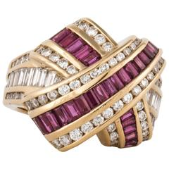 Charles Krypell Ruby Diamond Ring