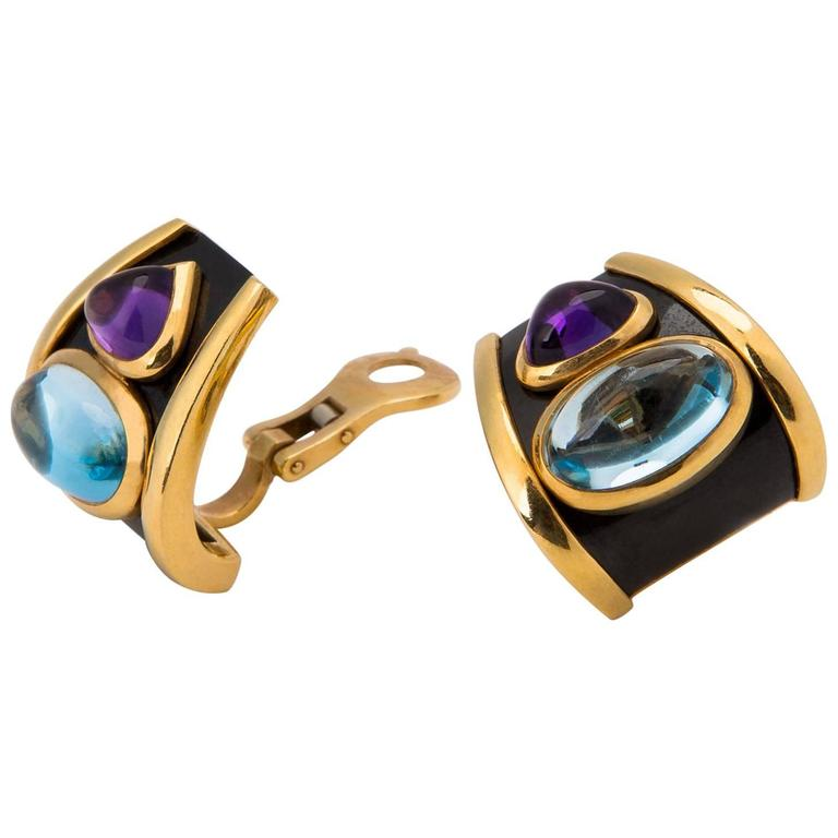 Marina B Colored Stone Earrings