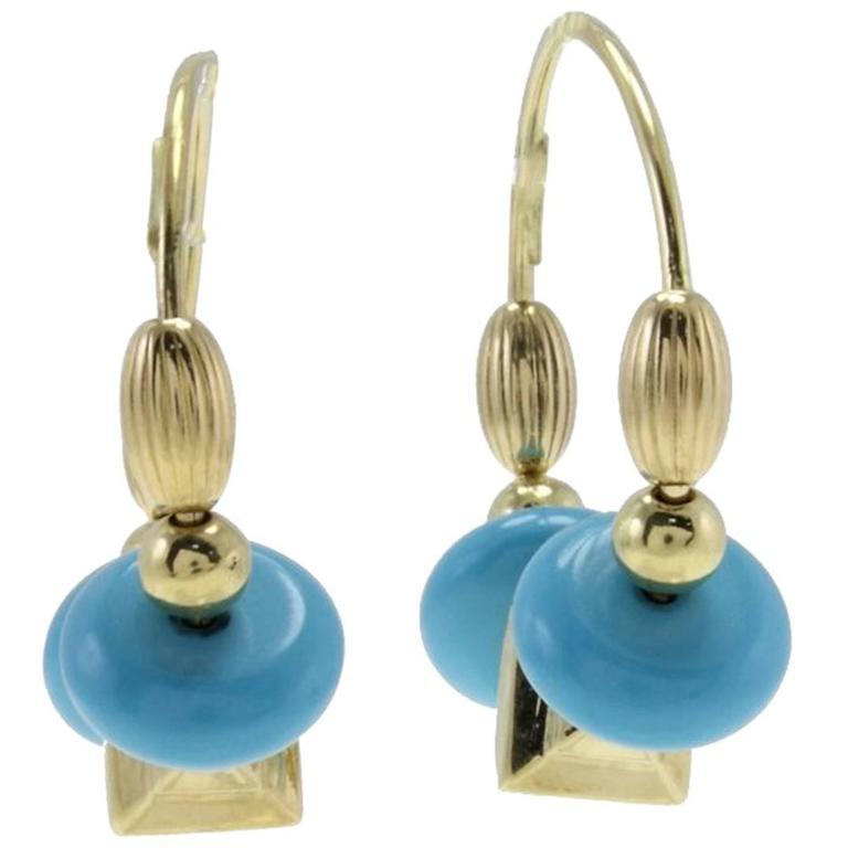 Stones 18 kt Gold Hoop Earrings