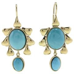 Luise Stones Gold Level Back Earrings