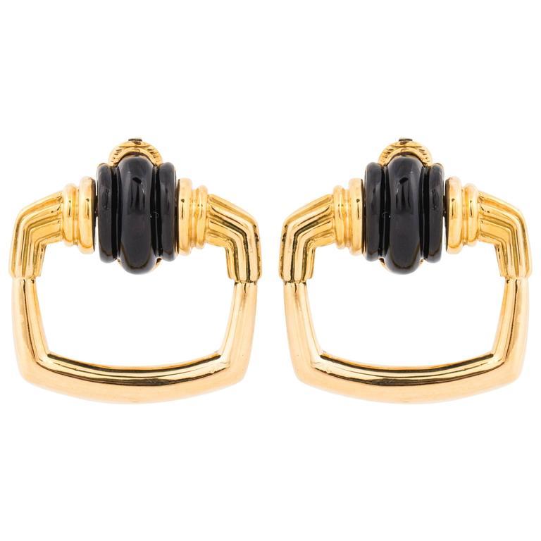 Cartier Aldo Cipullo 18 Karat Doorknocker Earrings For Sale