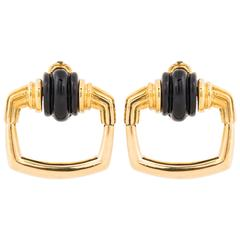 Cartier Aldo Cipullo 18 Karat Doorknocker Earrings