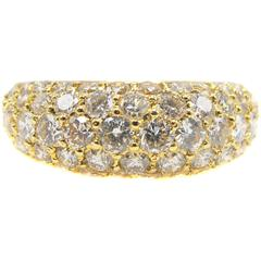 Chic Yellow Gold Diamond Eternity Band
